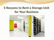 5 Reasons to Rent a Storage Unit for Your Business