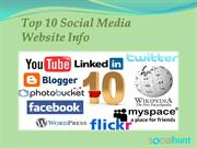 Top 10 Social Media Websites
