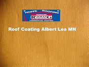 Roof Coating Albert Lea MN