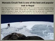 Manaslu Circuit Trek is One of The Best and Popular Trek in Nepal