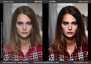Before and after samples of photo retouching