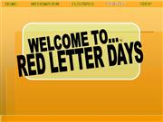 FIrst Draft Red Letter Days GT