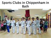 Sports Clubs in Chippenham in Bath