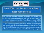 Cost Effective Professional Data Recovery Service