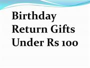 Birthday Return Gifts Under Rs 100