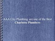 AAA City Plumbing are one of the Best Charlotte Plumbers