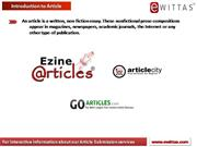 eWittas Article Submission services