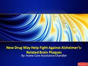 New Drug May Help Fight Against Alzheimer's-Related Brain Plaques