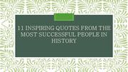 11 Inspiring Quotes from the Most Successful People in History
