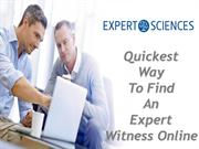 Quickest Way To Find An Expert Witness Online