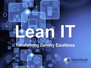 Lean IT by Operational Excellence Consulting