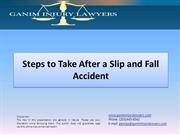 steps to take after  a slip and fall  accident