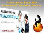 Communicate Better With Professional Translation Services