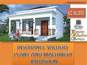 Insurance valuation & machinery and plant valuation by property valuat
