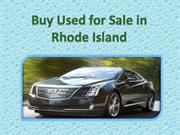 Buy Used for Sale in Rhode Island