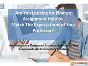 Top Quality Finance Assignment Help from Expert