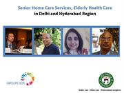 Senior Home Care Services in Hyderabad and Delhi