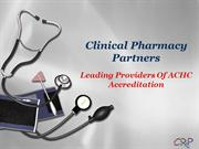 Leading Providers Of ACHC Accreditation - Clinical Pharmacy Partners