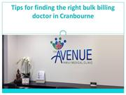 Tips for finding the right bulk billing doctor in Cranbourne