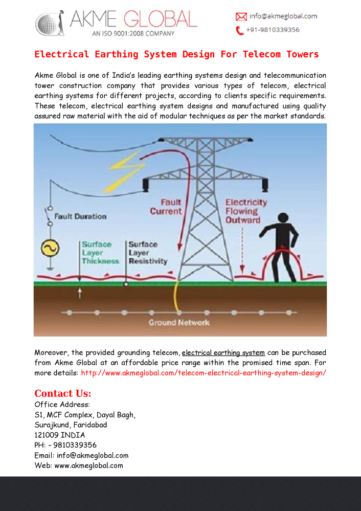 electrical earthing system design for telecom towers akme global electrical bonding a boat title electrical earthing system design for telecom towers akme global