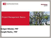 200810 Project Management Basics Worksho