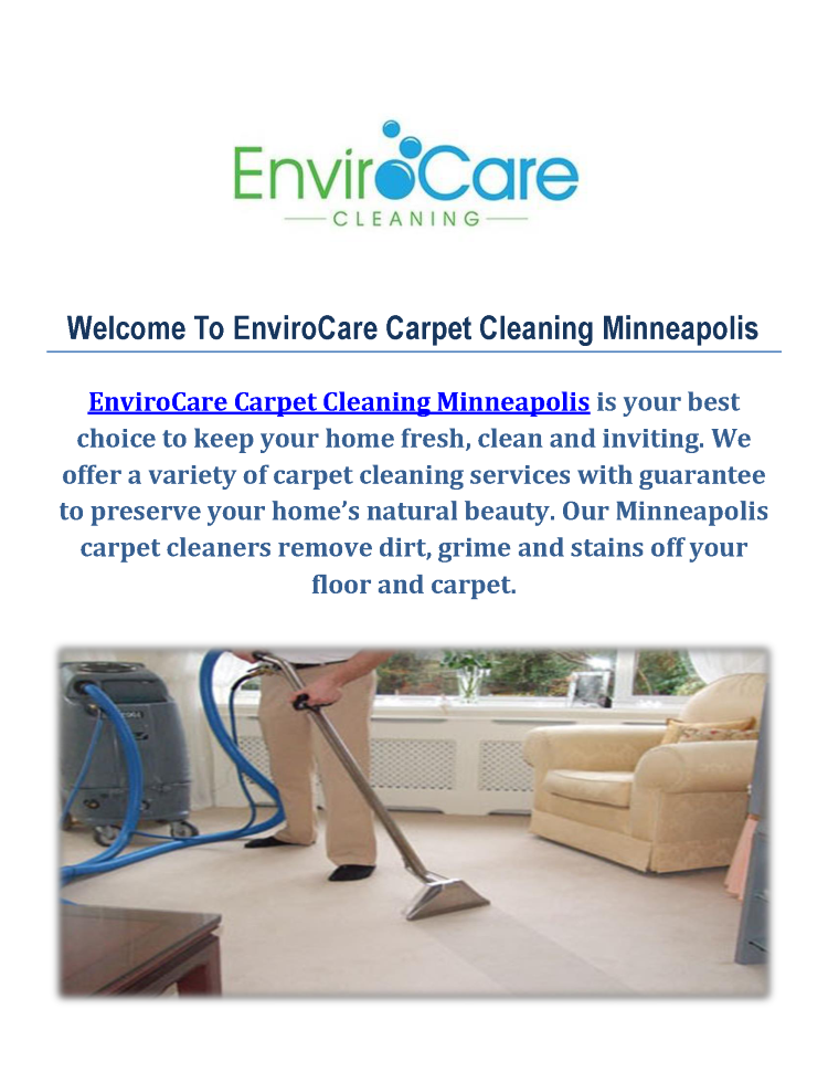 Minneapolis Carpet Cleaners At Envirocare Carpet Cleaning