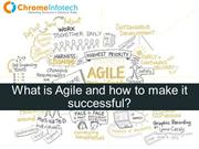 What is Agile and how to make it successful