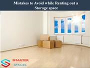 Mistakes to Avoid while Renting a Storage space