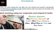 Eon Electronic Cigarettes in India