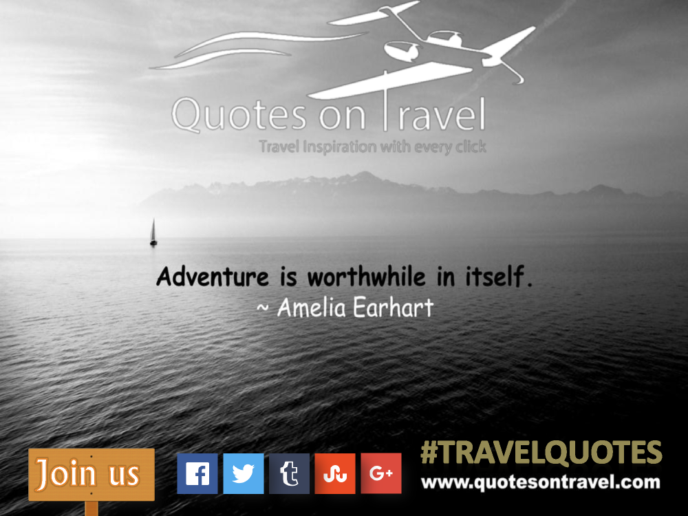 Famous Quotes On Travel By Amelia Earhart Authorstream