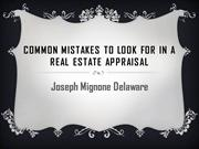 Joseph Mignone Delaware - Common Mistakes To Look For In A Real Estate