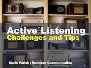 Active Listening Presentation by Mario Portak