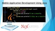 Mobile Application Development Using Java