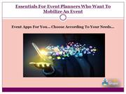 Essentials For Event Planners Who Want To Mobilize