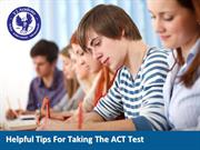 Helpful tips for taking the ACT Test