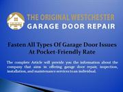 Fasten All Types Of Garage Door Issues At Pocket-Friendly Rate