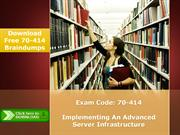 Microsoft 70-414 Real Exam Questions Answers