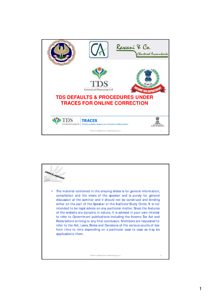 Tds Traces Pdf Generation Utility