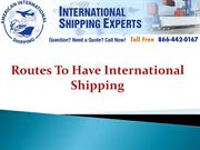 Routes To Have International Shipping