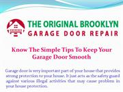 How To Protect The Garage Door From Winter