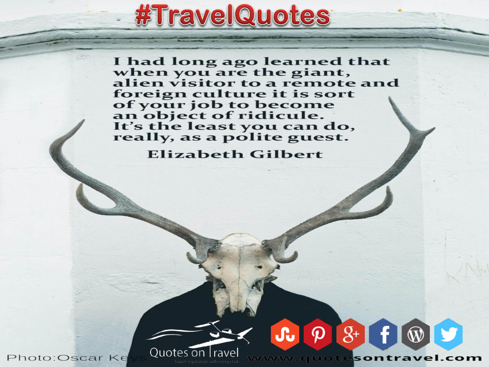 Funny Travel Quotes And Sayings By Elizabeth Gilbert Authorstream