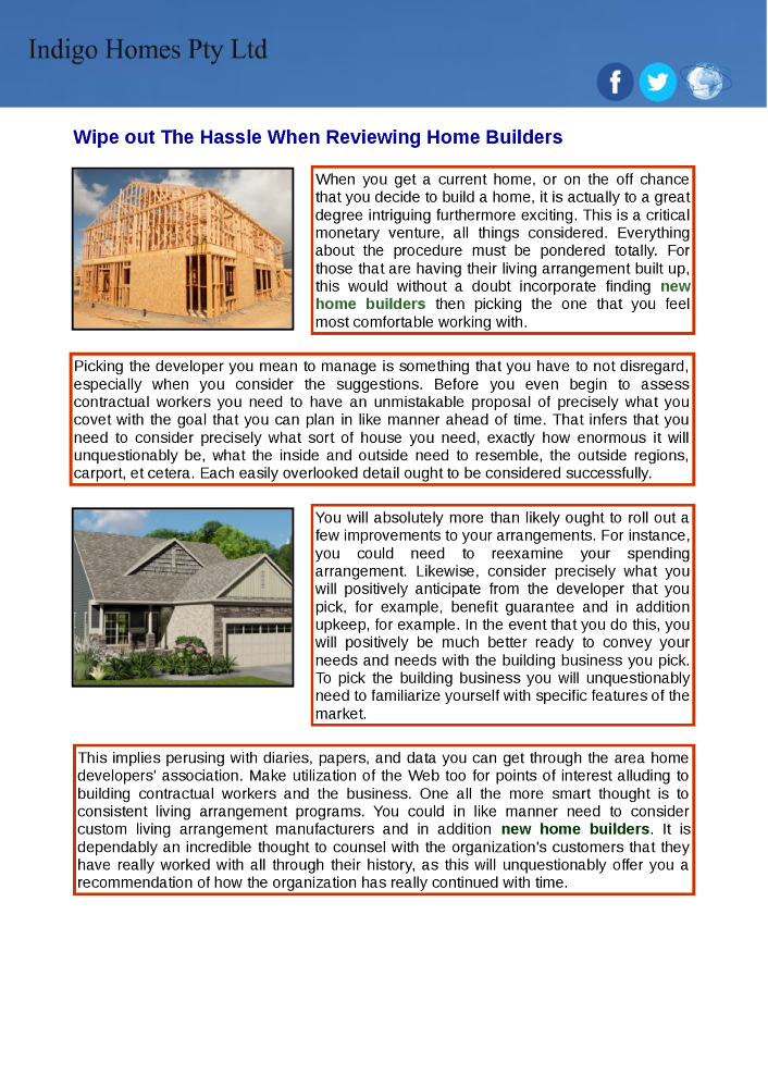 Find a new home builders in your local area authorstream for Find a builder in your area