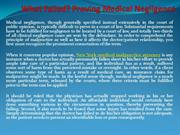 What Failed Proving Medical Negligence