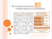 Sun Carpet Cleaning: a trustworthy carpet cleaner of Christchurch