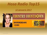 Hosa Radio Country Top 15 12 januarie 2017