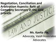 Mediation and Conciliation and Companies Acts, 2013 - NCLT