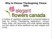 Why to Choose Thanksgiving Flower Gifts
