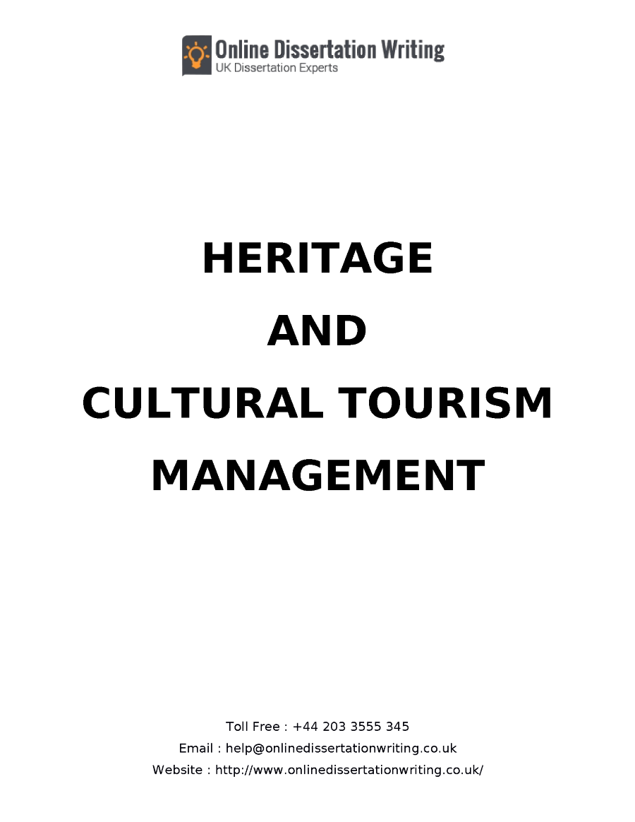 Phd thesis in tourism management