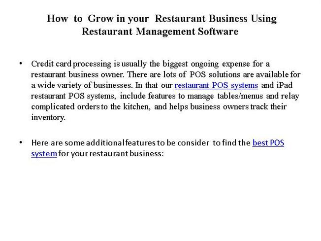 How to Grow in Your Restaurant Business Using  authorSTREAM
