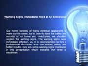 Warning Signs - Immediate need of An Electrician